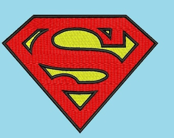 Superman Embroidery Design - 3,4 inch size instant download