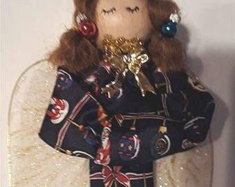 Ornamental Handmade Tie Angel, tree decor, wall decoration, stocking stuffer, christmas, gift idea, secret santa game,