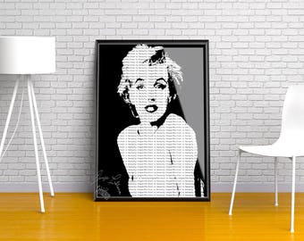 Marilyn Monroe Quote Printable the perfect home decoration