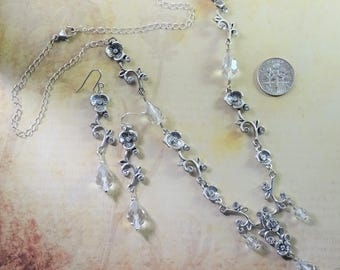 Swarovski Crystal Necklace and Earrings, Brides, Weddings, Proms