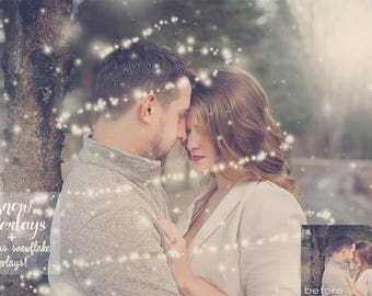 Snow Overlays for Photoshop, Snowflake Overlays, Magical Snow for Photoshop, Winter Overlays for Photographers