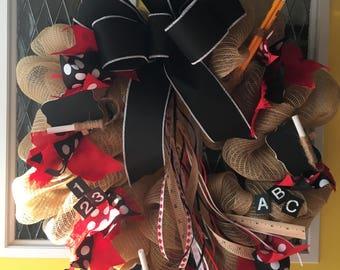 School Teacher Wreath