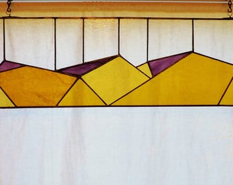 """8 x 32"""" transom stained glass panel"""