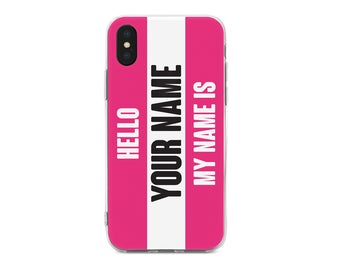 Hello your name Pink Phone Case,iPhone Case,iPhone 6S,iPhone 7,iPhone 7 Plus,iPhone 5C,SE,5S,Samsung S8,S8 Plus,S7,Galaxy A3,A5,Core Prime
