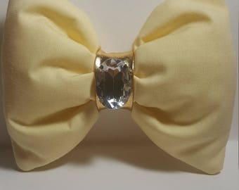 Yellow fluffy bow