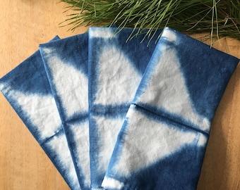 Indigo Diamond Napkin Set | Hand Dyed | Set of 4