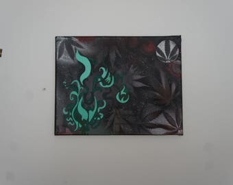 Weed Plant Painting