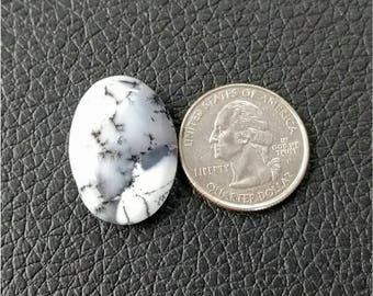 27 x 19.50 mm Ovel Shape Dendritic Opal Cobochon/ AAA Dendritic Agate Cabochon /Merlinite Cabochon/ wire wrap stone/Super Shiny/ Cabochon