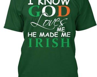 God Made Me Irish Tee