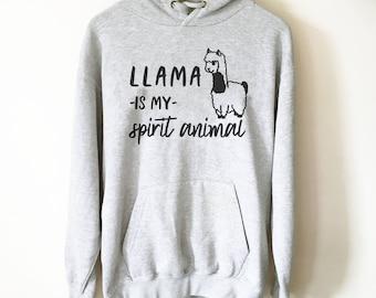 Llama Is My Spirit Animal Hoodie, llama shirt, funny llama shirt, llama gift, animal shirt, alpaca shirt, mama llama, spirit animal