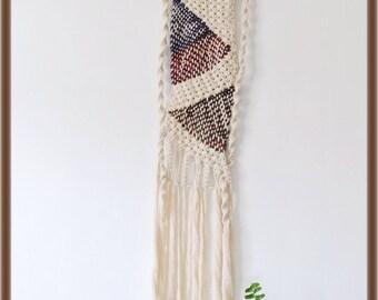 Macrame and woven precious wall hanging