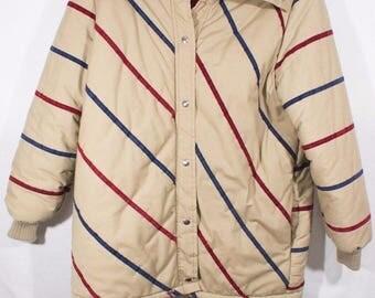 Vintage 1970's Men's Retro Weather Tamer Mod Ski Jacket, Rad Hipster Winter Coat
