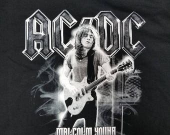 AC/DC Malcolm Young Tribute T-shirt clothing We Salute You 2017 acdc