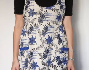 Vintage Terry Cloth Pinafore Mini Dress