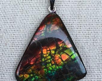 Ammolite Pendant, Lizardback Pattern