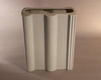 """Biscuit Porcelain Vase Rosenthal """"studio-line"""" op-art """"BRAAS"""""""