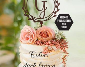 Letter Wedding Cake Topper, G letter Monogram Cake Topper, Unique Cake Topper, Initials Cake Topper Single Letter, Personalised Topper