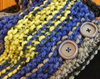 Snood cache-cou tricoté
