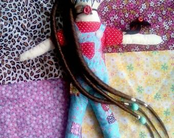 Carmen the scarecrow - creepy Doll - Handmade doll - Clothdoll- Art Doll