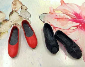 """Doll shoes Barbie. """"Red&Black"""""""