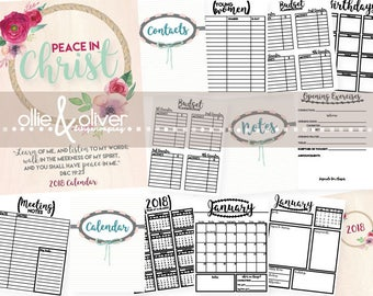 Young Women's 2018 Planner --INSTANT DOWNLOAD--