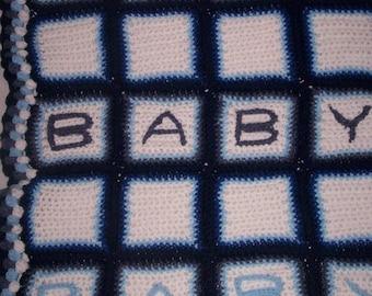 Crochet Baby Block Blanket