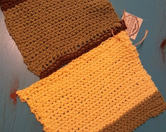 A pair of Dishcloths, handmade delight.
