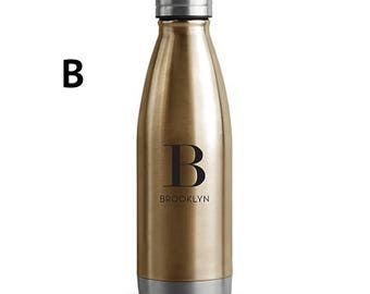 Personalized Central Park Travel Bottle - Matte Silver or Gold Customized Gift for the Special Ones