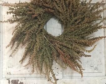 """Handtied Dock (perenial herb) Wreath. 22"""""""