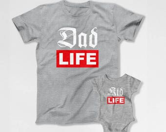 Matching Father And Baby Shirts Daddy And Daughter Shirts Father And Son Shirts Daddy And Me Clothing New Father Gift New Baby TEP-282-283
