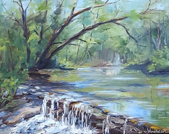 """Oil Painting of """"Babbling Brook"""""""