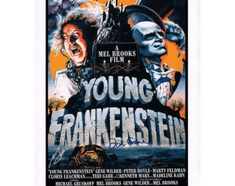 Script screenplay  Young Frankenstein   Cast Signed Cover ( printed not hand signed) Plus free gift