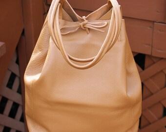 Made in Italy Genuine Leather Tote Bag - Carolinda Summer Tan