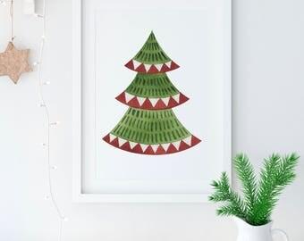 Christmas Tree Printable -  Christmas printable -  Instant Download