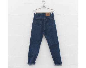 31-32 waist | Orange Tab Levis 509 High Waist Straight Leg Denim Medium Rinse