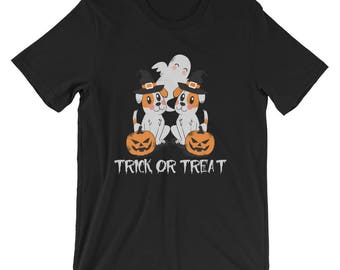 Jack Russell Terrier UNISEX T-Shirt Trick or Treat Funny Halloween Shirt