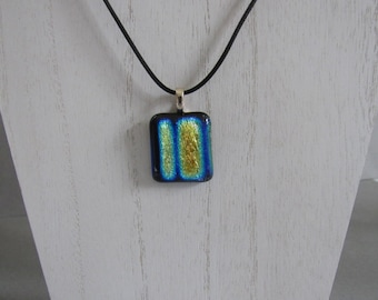 Dichroic Pendant; Dichroic Jewelry; Dichroic Fused Glass; Fuesed Glass Necklace/PDB808