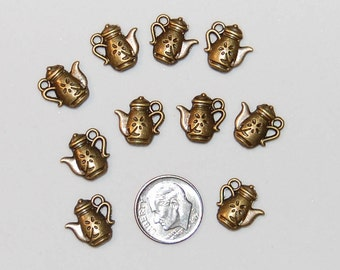 Teapot, Antique Bronze, 10 pieces, Free Shipping