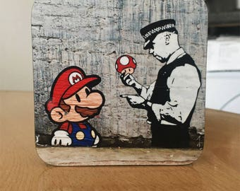 Banksy Coaster #38 - Banksy Gift - Banksy Coaster - Custom Coaster -Gift for Her - Gift For Him - Fridge Magnets - Banksy Magnet - Souvenir