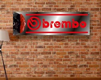 Brembo Vinyl Banner Sign Garage Shop Adversting Flag Poster Racing Brakes