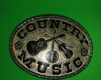 Vintage Country Music Belt Buckle (made in USA)