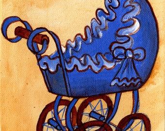 Téléchargement numérique - garçon - bébé accueillant présent / cadeau - bleu Landau #1012