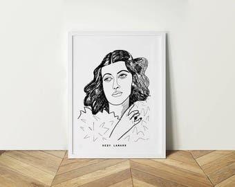 Portrait Hedy Lamarr.