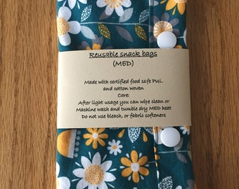 Medium reusable snack bag