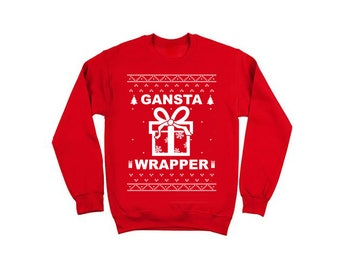 Gansta Wrapper Holiday Ugly Christmas Sweater