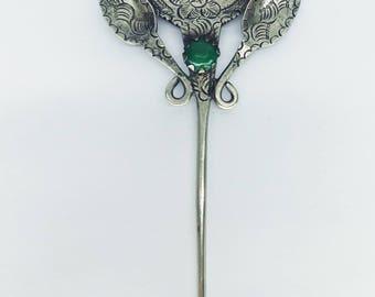 0ld colonial peruvian brooch / Peruvian Tupu / old brooch / silver spoon / old pin / old peruvian spoon / old spoon / prendedor / broche /