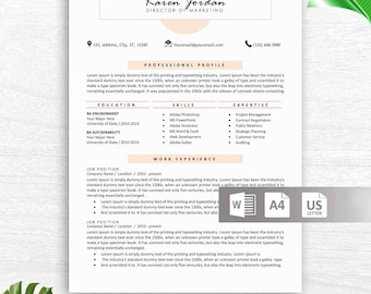 Professional Resume Template, Resume Template Instant Download, Free Resume Template, Cover Letter + References Included, Editable Resume