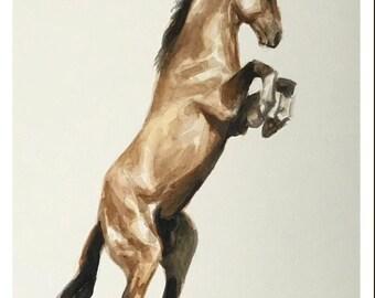 Horse - original watercolor painting