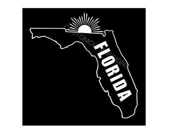 Florida Decal, Florida Car Decal, Vinyl Decal, Car Decal, Laptop, Tablet, Window