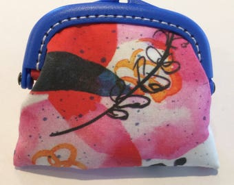 Pink, Red and Blue Coin Purse